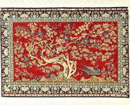 Fine Silk Hereke 'Cinar' Rug (Signed),