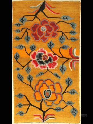 Tibetan Yellow Khaden 'Sleeping Rug',