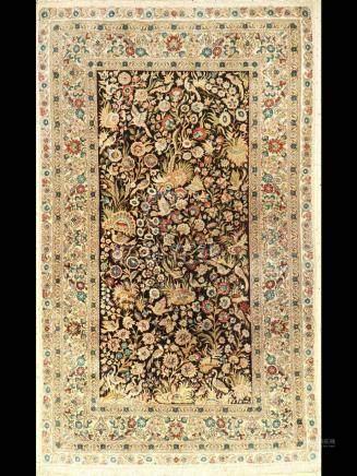 Very Fine Chinese Silk Hereke Rug,