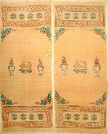 A Pair Of Mongolian-Chinese 'Wall Hangings' (Flatweave),