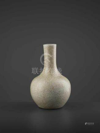 A GE TIANQIUPING, QING DYNASTYChina, 19th century. The heavy vase covered with a grayish white