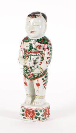 Chinese Porcelain Wucai Boy, Transitional Period, 17th/18th Century  A3WCC
