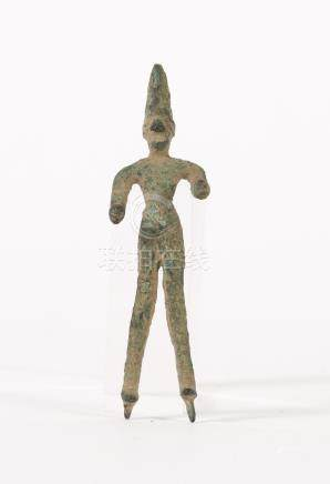 Small Syrian Bronze Standing Figure, possibly Canaanite  A3WCI
