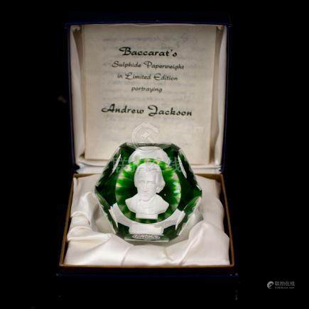 "Baccarat ""Andrew Jackson"" Paperweight"