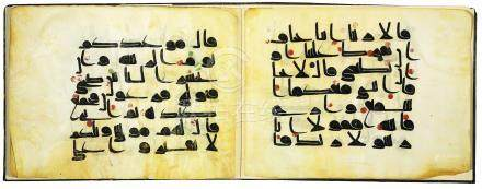 A LARGE FORMAT KUFIC QUR'AN SECTION