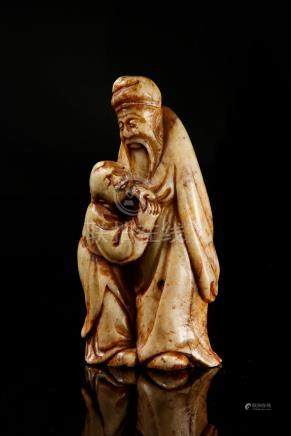 Carved Shoushan Figures