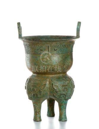 Chinese Archaic Bronze Bronze Vessel