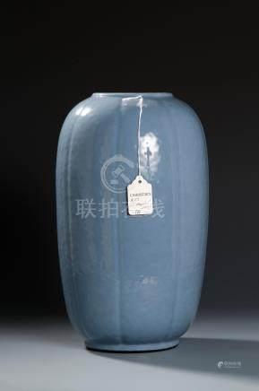 Pale Blue Glazed Lobed Ovoid Vase, Christie's