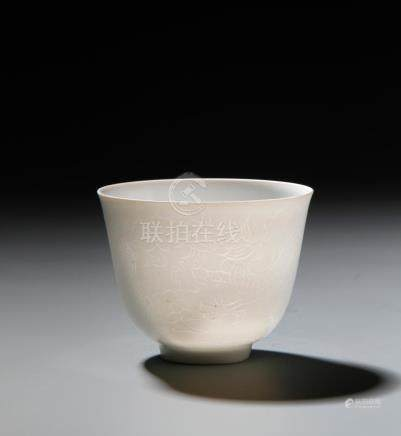 White Glazed Incised Cup
