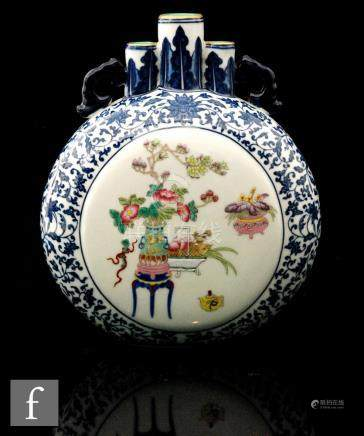 A Chinese Qianlong style moonflask,