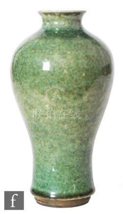 A Chinese 'Peach Bloom' glazed meiping vase,