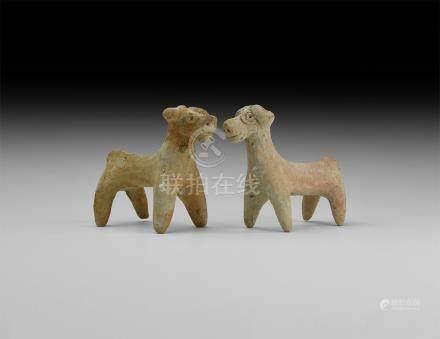 Western Asiatic Ram Statuette Pair