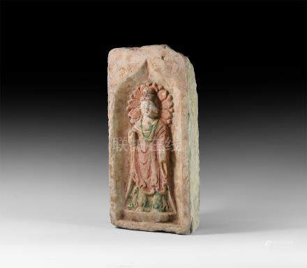 Chinese Northen Wei Buddha Brick