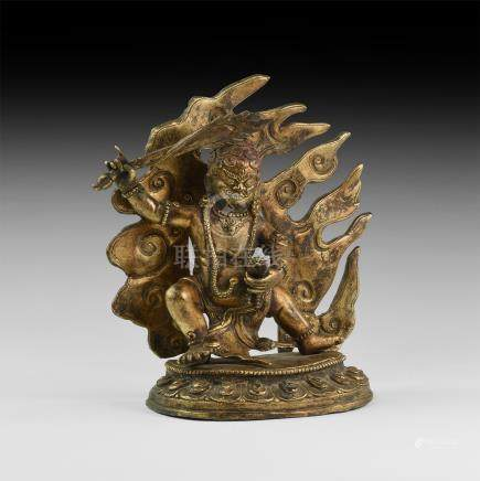 Tibetan Gilt Agni Figurine