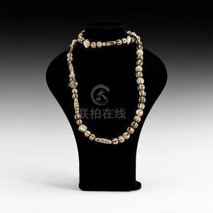 Tibetan Pumtek Bead String
