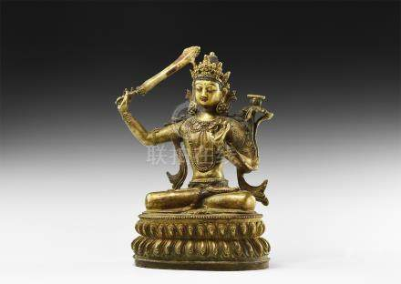 Tibetan Gilt Buddha Figure