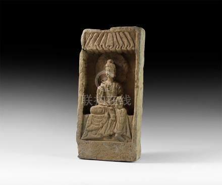 Chinese Northern Wei Buddha Brick