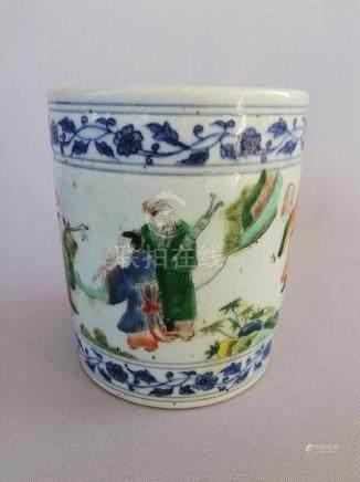 NICE CHINESE QING KANG XI FAMILLE VERTE CUP