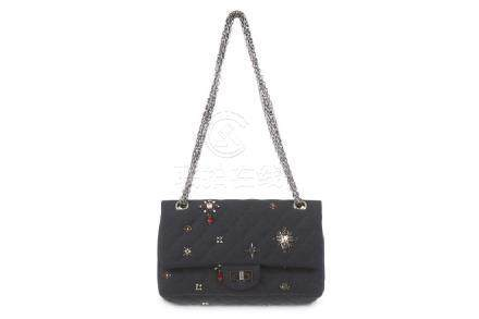 Chanel Embellished Jersey Reissue Flap Bag, c. 2008-09,