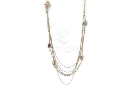 Chanel Multi-Strand Sautoir, c. 2008, faux pearls and