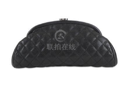 Chanel Black Caviar Timeless Clutch, c. 2009-10,