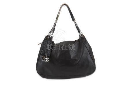 Chanel Black Shoulder Bag, c. 2008-09, smooth leather
