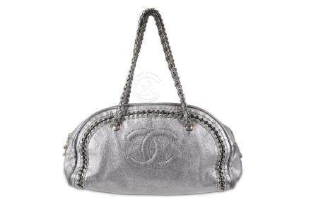 Chanel Metallic Silver Bowler, c. 2005-06, from the