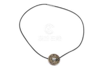 Hermès Cible Labyrinthe H Rythme Necklace, silver
