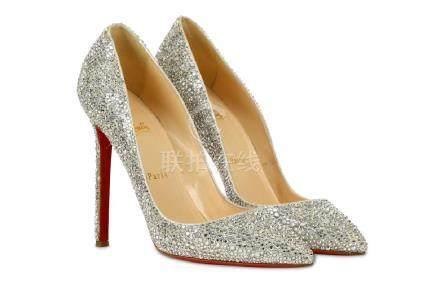Christian Louboutin Crystal So Kate Heels, encrusted