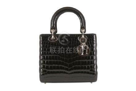 Christian Dior Limited Edition Black Crocodile Lady