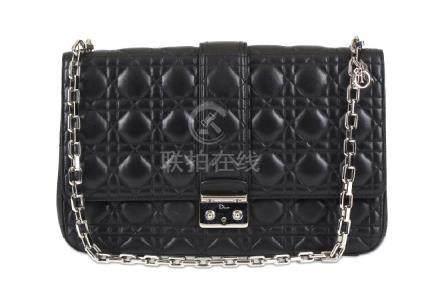 Christian Dior Black Miss Dior Large Shoulder Bag,