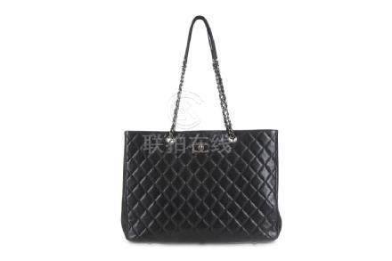 Chanel Black Large Classic Shopping Tote, c. 2015-16,