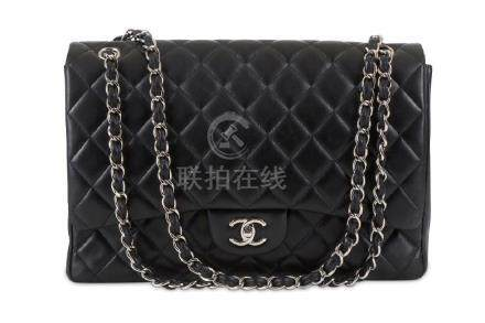 Chanel Black Jumbo Single Flap Bag, c. 2010-11, quilted