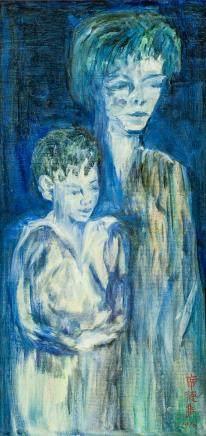 Xi Dejin Chinese Modernist Oil on canvas Portrait