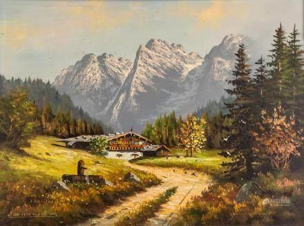 Wohl Rene Leidner German Oil on Canvas Landscape