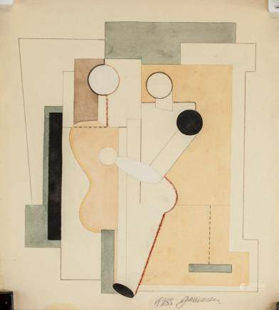 Willi Baumeister German Modernist Mixed Media
