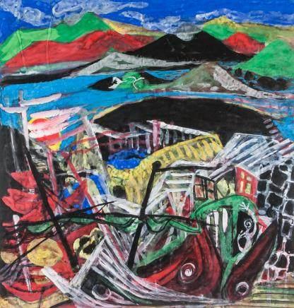 Xu Zhongfang b.1943 Chinese Watercolor Abstract