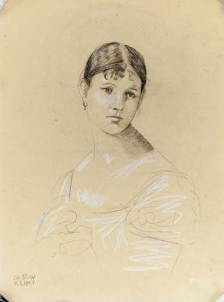 Gustav Klimt Austrian Symbolist Pencil Portrait