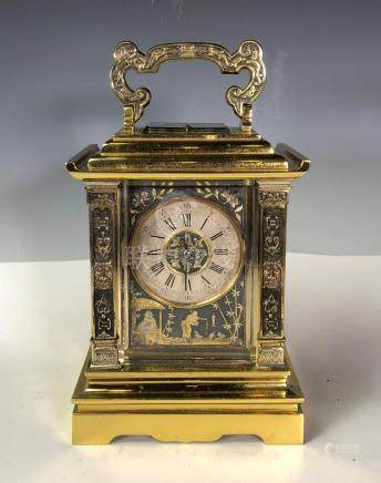ACHILLE BROCOT FRENCH GILT AND SILVERED BRASS STRIKING