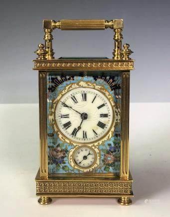 Gilt and Enamel Mantle Clock