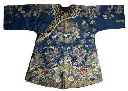Embroidered Silk Dragon Robe