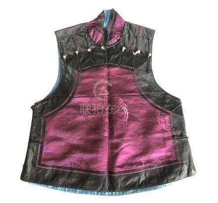 Lady's Burgundy Silk Vest