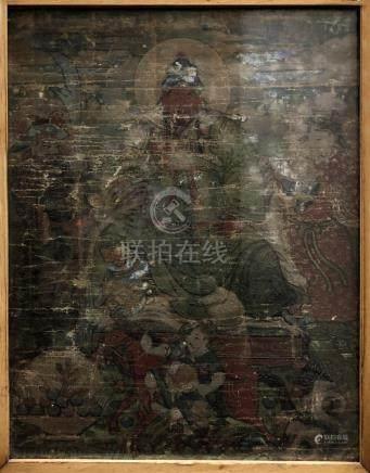 Framed 18th Century Thangka