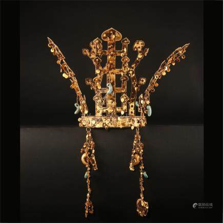 KOREAN PURE GOLD IMPERIAL CROWN 5TH CENTURY