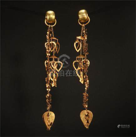 KOREAN PURE GOLD EARRINGS 5TH CENTURY