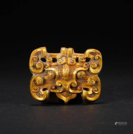 CHINESE PURE GOLD BEAST HAN DYNASTY