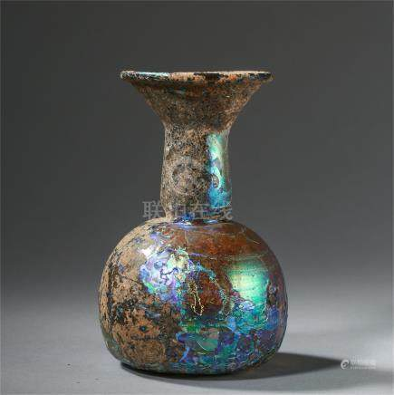 CHINESE GLASS BOTTLE TANG DYNASTY