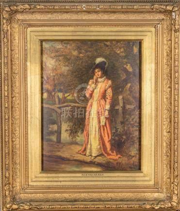 Frederick Gerald Kinnaird Vintage Oil Painting