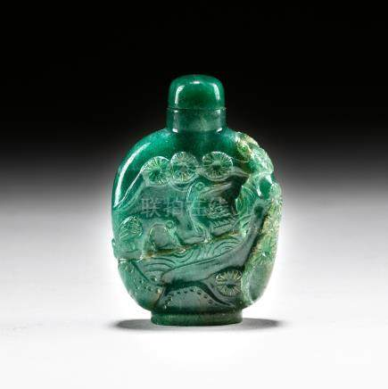 1890-1930 Chinese Antique Jade Like Snuff Bottle