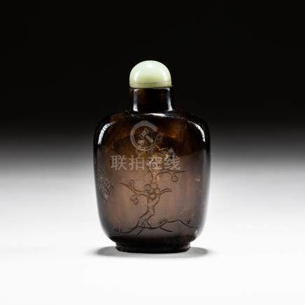 19th Chinese Antique Rock Crystal Snuff Bottle